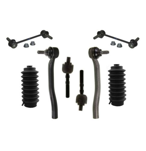 8 New Pc Suspension Kit for Honda Prelude 1997-2001 Inner /& Outer Tie Rod Ends