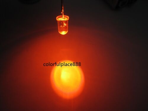 1000pcs 5mm Orange Round High Power Super Bright 20,000MCD Water Clear LED Leds