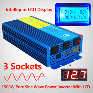 PURE-SINE-WAVE-1500W-MAX-3000W-DC-12V-to-AC-240V-POWER-INVERTER-CARAVAN-CAMPING