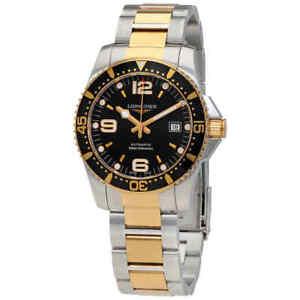 Longines-Hydroconquest-Automatic-Black-Dial-Men-039-s-Watch-L37423567
