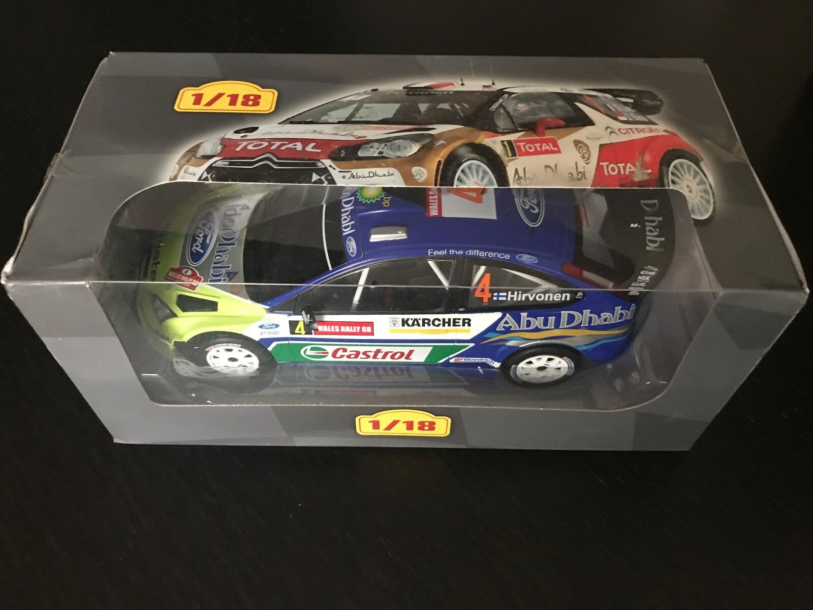 Ford focur rs wrc 2007 m. hirvonen rally rally-ixo Altaya 1 18 (eb27)
