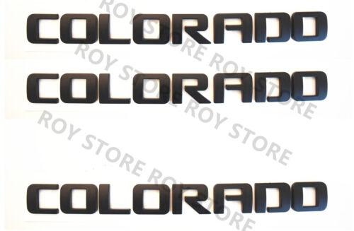 Matte Black COLORADO Nameplates Emblems 3D Badges Chevrolet LT Blackout 3