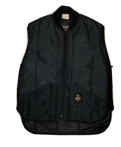 Mens-VTG-Refrigiwear-Insulated-Workwear-Full-Zip-Vest-Jacket-Black-Sz-Large-L