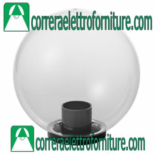 MARECO 1080101T Lampione globo giardino esterno SFERA 200 mm trasparente