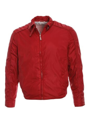5450$ MENS BRIONI BLOUSON RED SILK LINING LEATHER… - image 1
