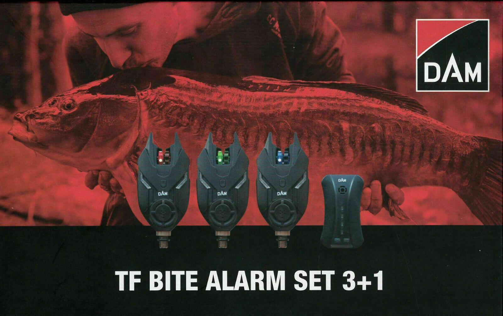 DAM TF Wireless Bite Alarm Set 3 + 1 Or 4+1  In Case Fishing