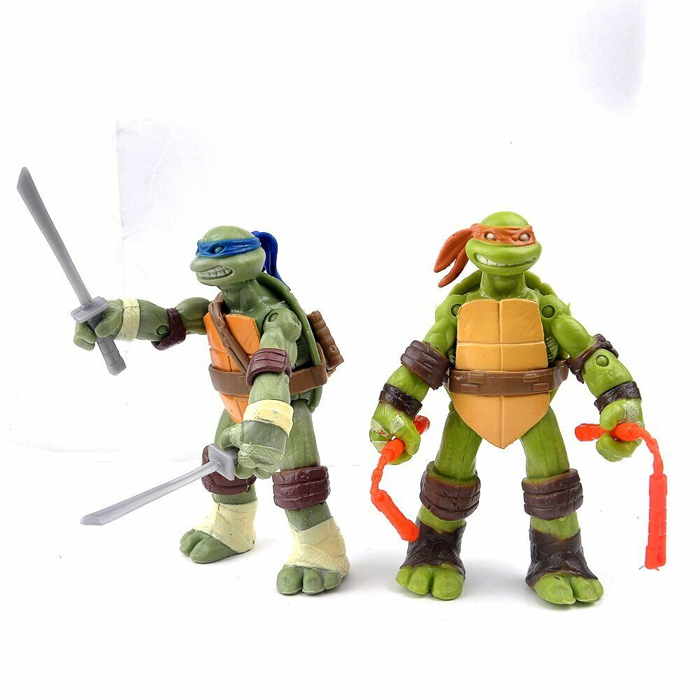 DE Action Figur TMNT Teenage Mutant Ninja Turtles Lot 4 Figuren Modell Spielzeug
