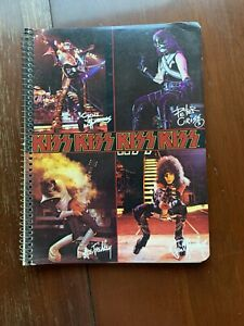 KISS Spiral Notebook Gene Simmons/Ace Frehley/Peter Criss/Paul Stanley UNUSED