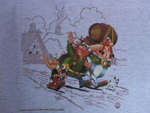 Asterix & Obelix T-Shirt - Asterix, Obelix, Vitalstatistix  Dogmatatix - Grey L