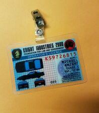 Knight Rider ID Badge - Knight Industries 2000 Operator's License Michael Knight