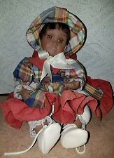 ANCO AFRICAN AMERICAN MOVING MUSICAL PORCELAIN DOLL ~ WHEN YOU WISH UPON A STAR