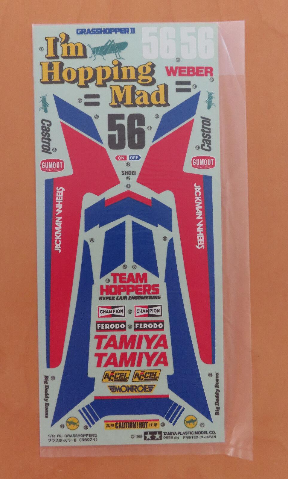 RC Tamiya Decal The Grasshopper II 58074 NEU NIB 1988