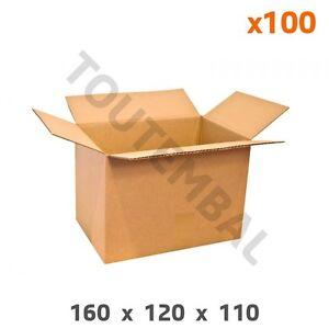 DéSintéRessé Caisse Carton Simple Cannelure Petites Dimensions (a6) 160x120x110 Mm (par 100) Ventes Pas ChèRes 50%