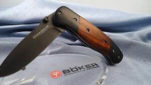 MotivéE Böker Magnum 01mb604 Traditionnel Couteau De Chasse Solingen Germany-afficher Le Titre D'origine