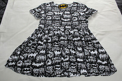DC Comics Batman Ladies Black Printed Short Sleeve Smock