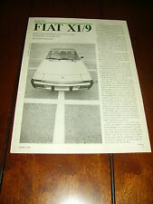 1978 FIAT X1/9  ***ORIGINAL ARTICLE / SPECIFICATIONS***