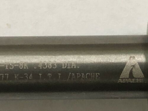 PCD Drill bit Cutting tool with Threaded Shank and oil holes .4383 Dia aircraft