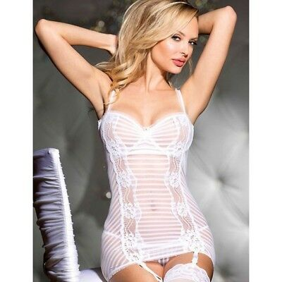 Cerca Voli Babydoll Lingerie Chemise Bianco Sposa Pizzo Sexy Completino Intimo Donna