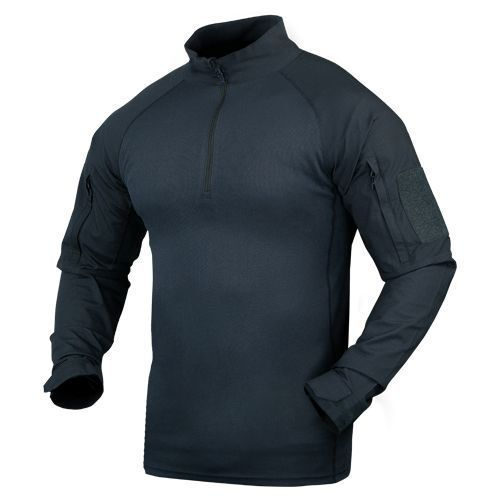 Condor 101065-006 Moisture Breathable Tactical 1 4 Zip Combat Shirt - Navy bluee
