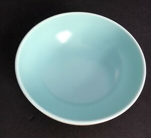 Catalina Pottery Rancho Ware Duotone Satin Turquoise/Ivory Vegetable Bowl GMcB