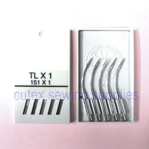 10 Orange 151X1 TLX1 Curved Sewing Needles For Singer 246 246K Class Overlock