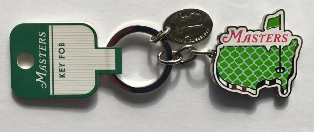 2019 Masters keychain lime green map logo augusta national golf new