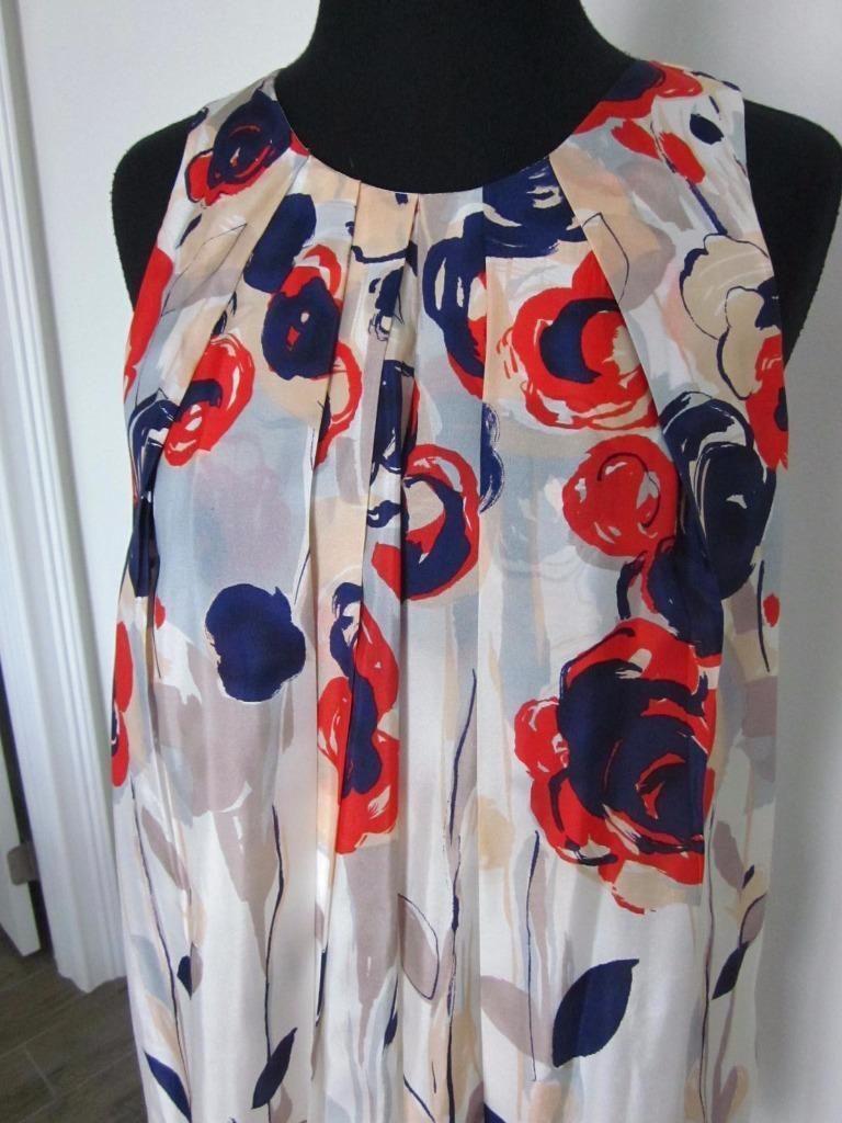 Anthropologie ISABELLA SINCLAIR floral dress Garden Party SILK Sz 0 Lined