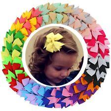 """Dreamhigh 40 Pcs 20 Pairs Girls 3"""" Ribbon Boutique Hair Bows Hair Clips"""