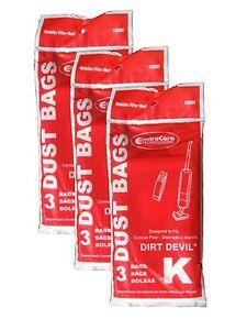 9 Royal Dirt Devil Stick Vac Type K Allergy Vacuum Bags All Dirt Devil Stick ...