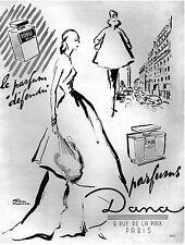▬► PUBLICITE ADVERTISING AD PARFUM PERFUME DEFENDU TABU dana FACON MARREC 1948