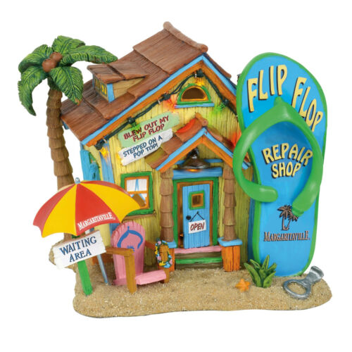 Enesco Dep 56 Margaritaville Village Flip Flop Repair Shop NIB 6001757