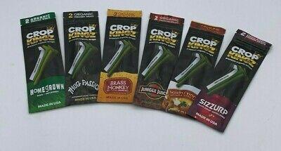 Crop Kingz Herbal Wraps Organic self-sealing Variety Sampler 6//2ct packs