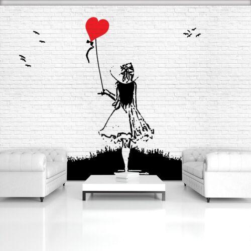 Vließ Fototapete Tapete Wandbild Mädchen mit Ballon Banksy 320200/_VENMVT