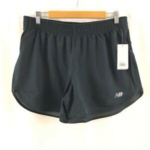 New Balance Womens Accelerate 5 inch Shorts Moisture Wicking Running Black L