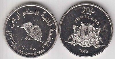 Ocelot bimetal unusual coinage PUNTLAND 25 Shillings 2015 Cat Cats