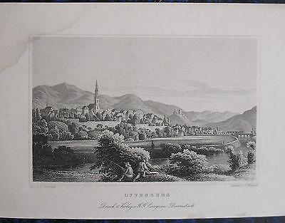 Baden-württemberg Ansichten & Landkarten Offenburg Gesamtansicht Originaler Stahlstich 1860 Angenehm Bis Zum Gaumen