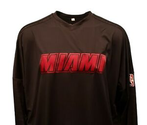 premium selection 49468 58e9d Miami Heat Black NBA Adidas Long Sleeve On-Court Shooting ...