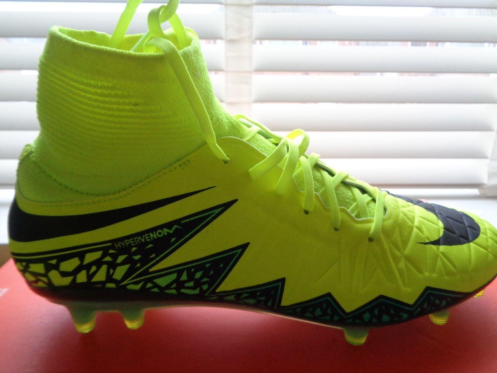 new concept d4b1a b9699 Nike HYPERVENOM PHATAL 11 11 11 DF FG Da Uomo Calzini Scarpe Da Calcio  747214 703 NUOVI 30b1d9