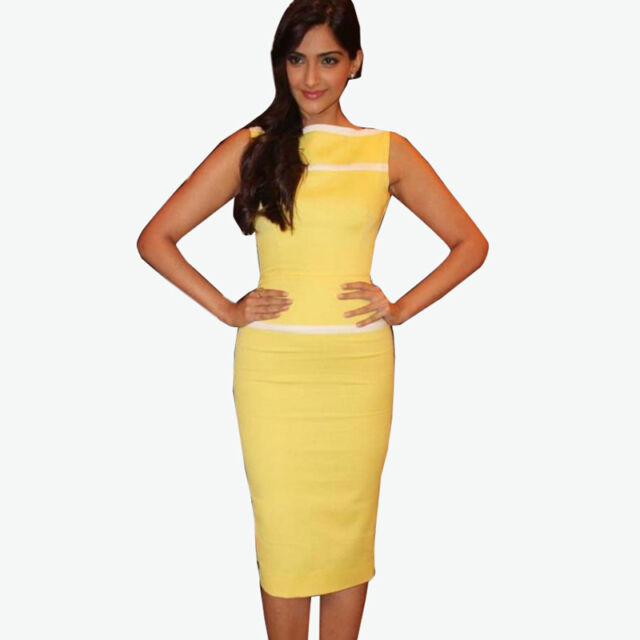 Womens Cocktail Elegant Evening Club Wear Pencil Bodycon Midi Dress E243