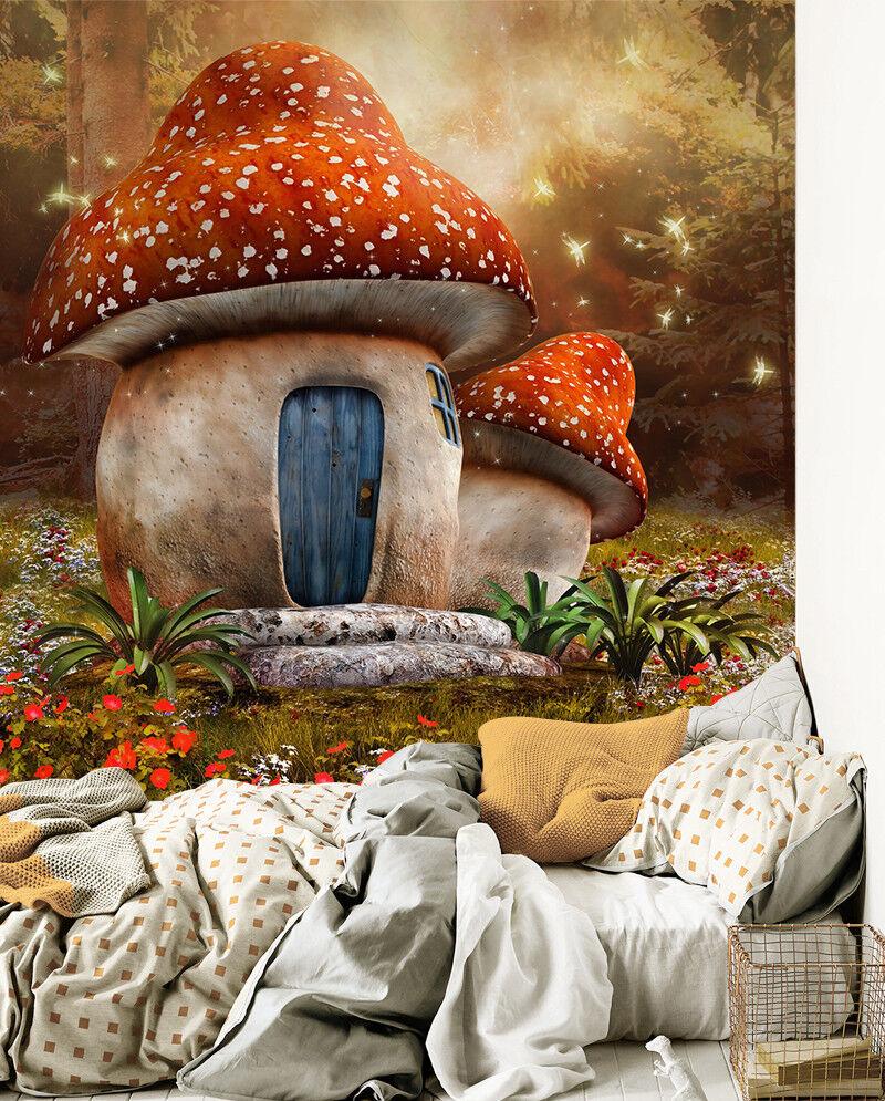 3D Jungle Pilze Dschungel 8933 Tapete Wandgemälde Wandgemälde Wandgemälde Tapeten Bild Familie DE Lemon | Erste Gruppe von Kunden  | Kaufen Sie beruhigt und glücklich spielen  | Verschiedene Stile  02d85f