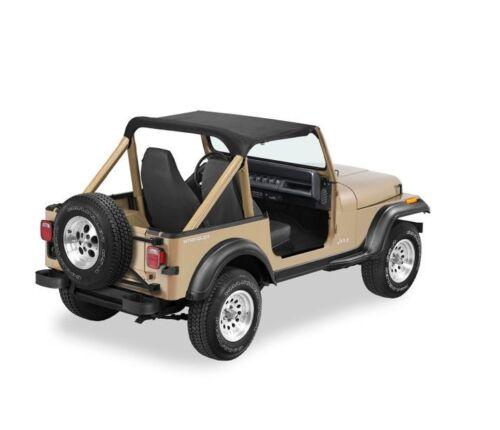 Bestop Black Denim Strapless Bikini Top For 86-91 Jeep Wrangler #52509-15