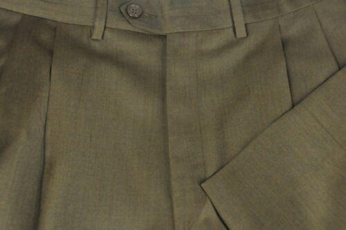 Lussuoso Marrone X Serge Pieghettato Uomo Vestito Santorelli Pantaloni 33 Lana AqB5wRf