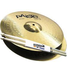 """PAISTE 101 Brass 14"""" HiHat Hi Hat Becken + 5A Keepdrum Drumsticks"""