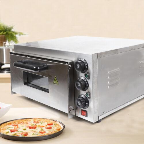 Pizzabackofen Pizza Backofen Flammkuchenofen 1 Kammern 2KW Brotbackofen W// Timer