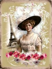 Fabric Block Chic /& Shabby Victorian Altered Image Reproduced Whimsy Dust Roses