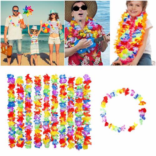 10 Pack Premium Hawaiian Lei Hula Aloha Hawaii Hen Stag Flower Garland Party