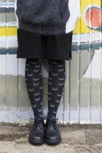 Bonnie-Doon-Strumpfhosen-Damen-Cat-Face-Tights-Katzen-black-Gr-S-bis-XL-NEU