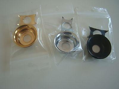 Telecaster guitar vintage Jack socket / Jack ferrule cup chrome + gold new parts