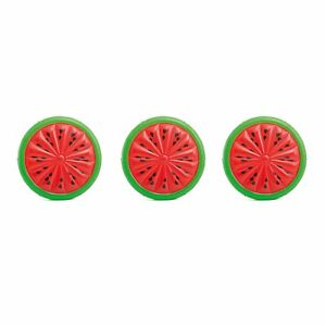 Intex-Giant-Inflatable-72-034-Watermelon-Island-Summer-Swimming-Pool-Float-3-Pack