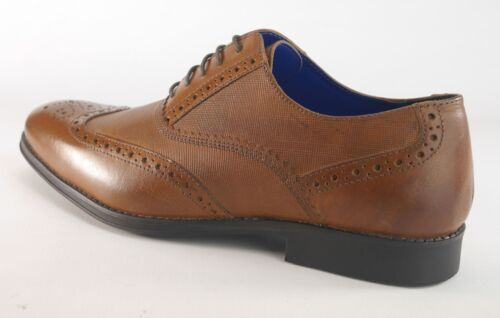 Chaussures Brogue Lace Tan rond bout Mens à Formal Red Taoe Up qTYwtt
